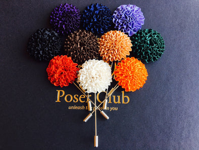 Men's Floral Lapel Pins - Series 2 by Poser Club