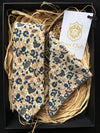 Matching Necktie and Pocket Square 'Paisley Cream' Trio Set by Poser Club