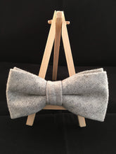 Tie, Bow Tie and Pocket Square 'Mountain Wolf' Trio Set - 100% Wool