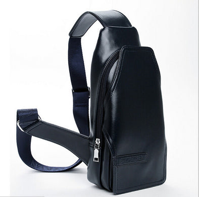 2016 popular fashion chest pu leather bag man chest bag waist bag male one shoulder his utility delivery free of charge