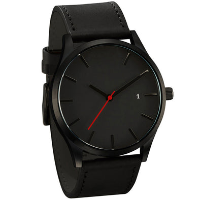 Popular Low-key Minimalist Connotation Leather Men's Quartz Wristwatch