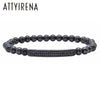 2018 New style Bars Zircon  Men girl Fashion brand Bracelets Micro inlay CZ Pave beads Bracelets Men Woman Zircons Bar Bangle