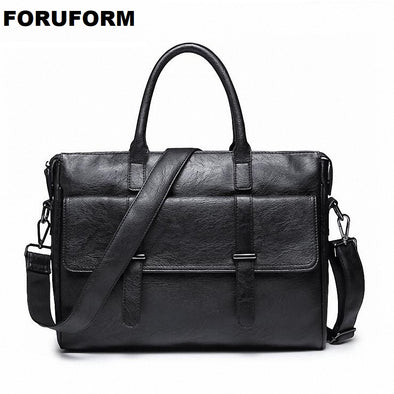2018 Office Bags Business Summaries Vintage Style PU Leather Briefcases Men Bag Briefcase Leather Bag Black For Men Male LI-2168