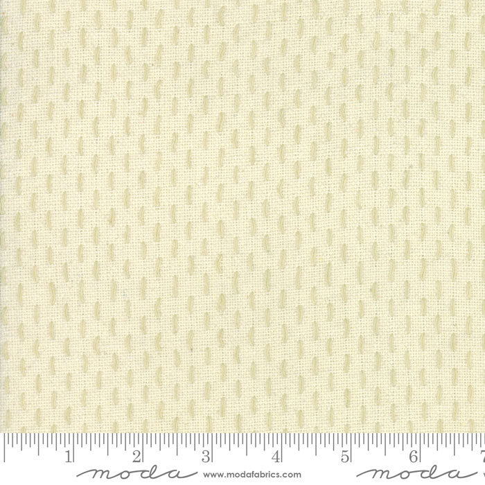 French Sashiko - Pearl Oyster - 1/2 yard