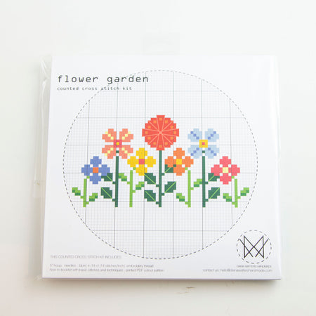 Flower Garden - Cross stitch kit