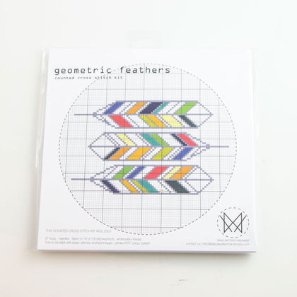 Geometric Feathers - Cross stitch kit
