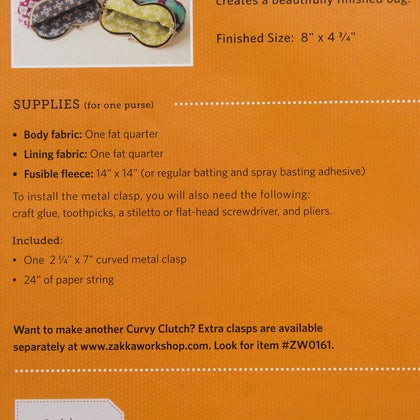 Curvy Clutch Kit