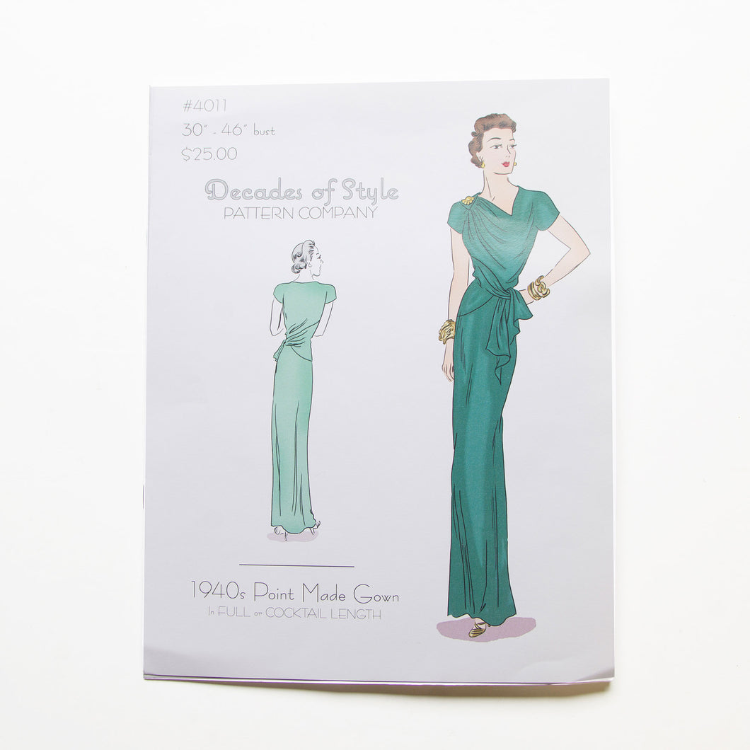 1940s Point Made Gown Pattern