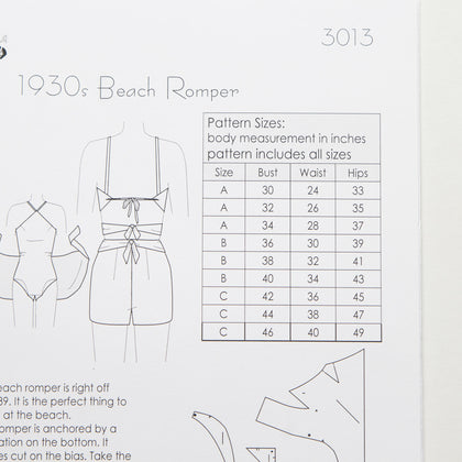1930s Beach Romper Pattern