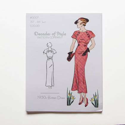 1930s Button Dress Pattern