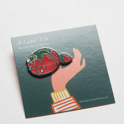 Tomato Pincushion Enamel Pin