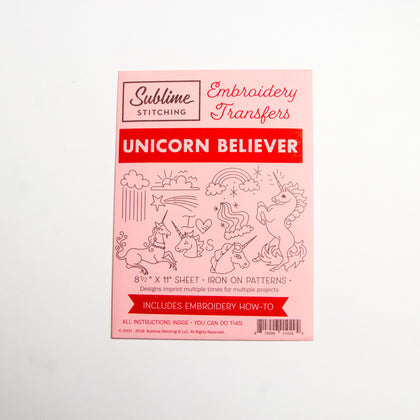 Unicorn Believer Embroidery Pattern