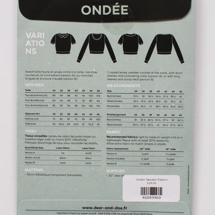 Ondee Sweater Pattern