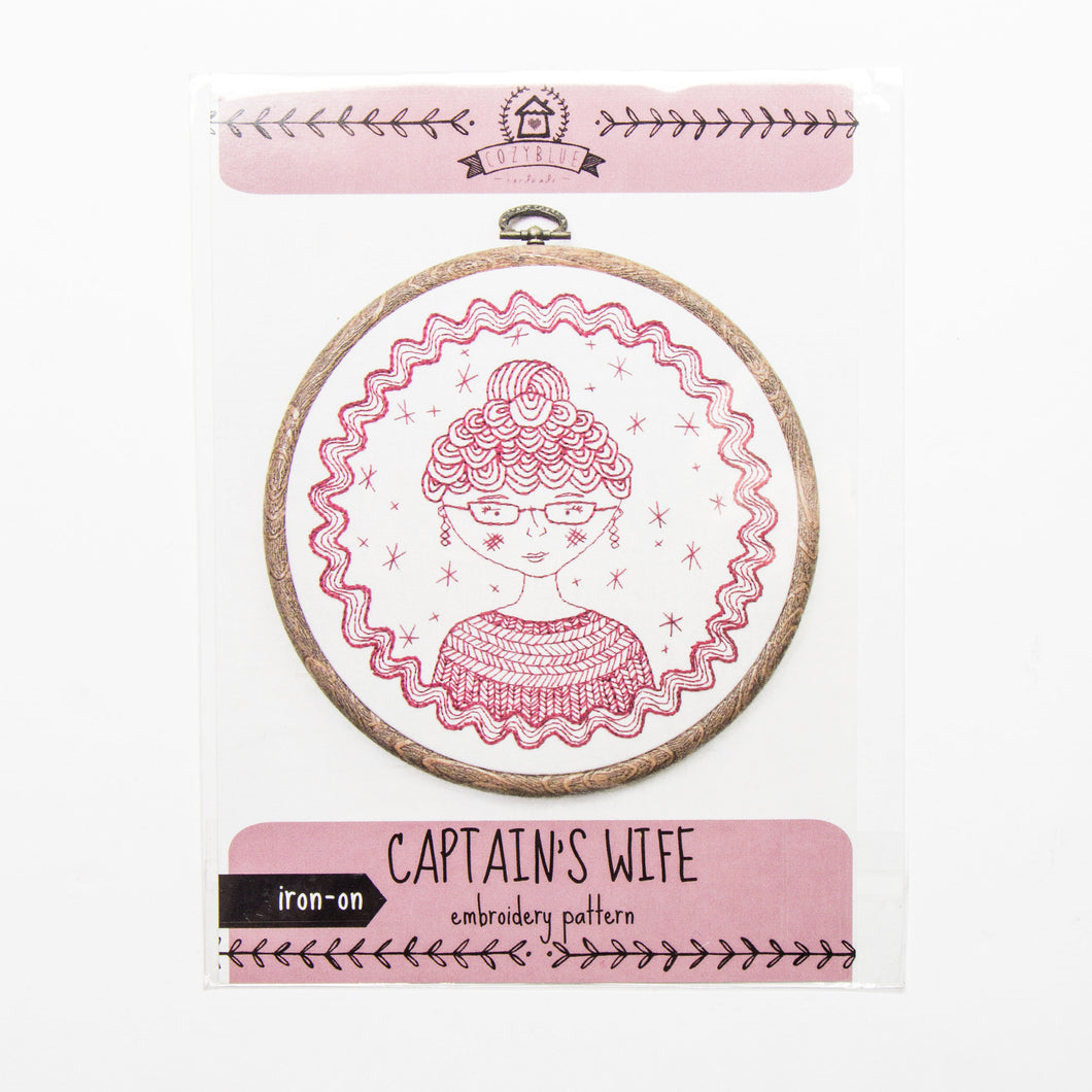 Captain's Wife Iron-on Embroidery Pattern
