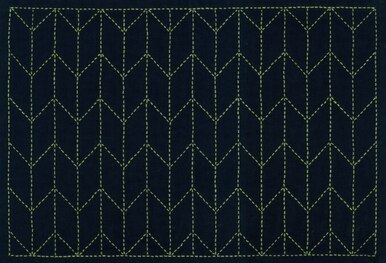 Embroidery - Sashiko Placemat