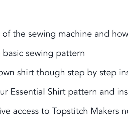 Sewing 101 - The Essential Shirt Online Course