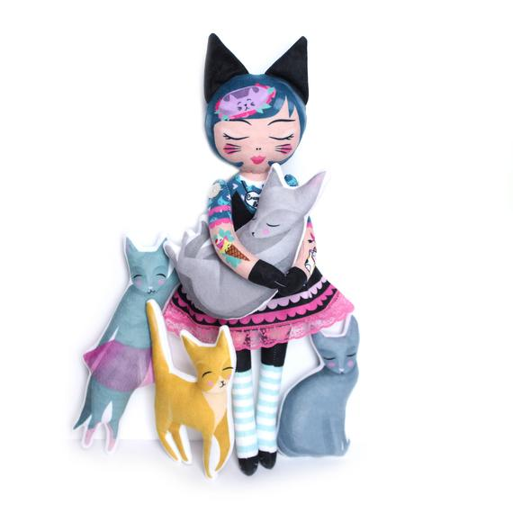 Miss Ella DIY Kit -  Cat Lady