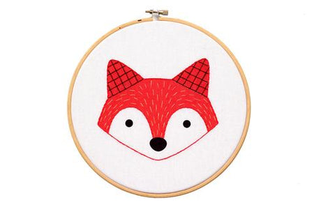 Fox Hoop Art Embroidery Kit
