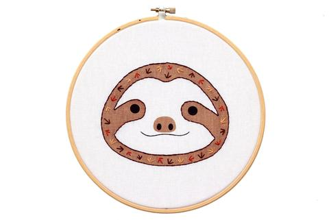 Baby Sloth Hoop Art Embroidery Kit