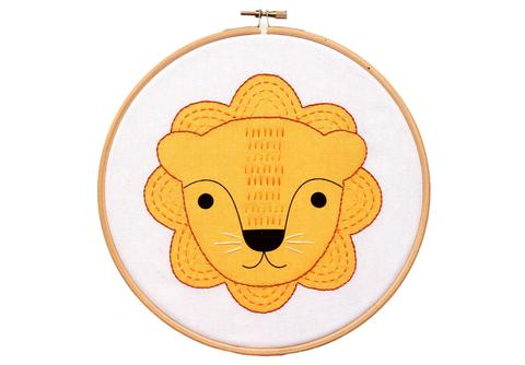 Little Lion Hoop Art Embroidery Kit