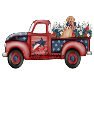 American Truck with Dog Transfer