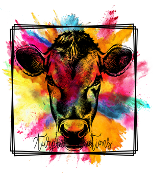 Colorful Cow Transfer