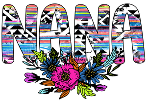 Nana Aztec Flowers Transfer