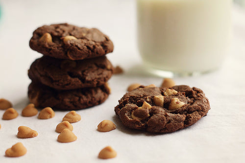 Chocolate Peanut Butter Chip Cookies (one dozen)