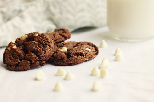 Chocolate White Chocolate Chip Cookies (one dozen)