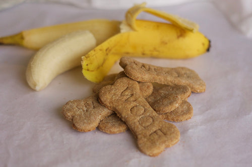 Banana Peanut Butter Dog Cookies (one dozen)