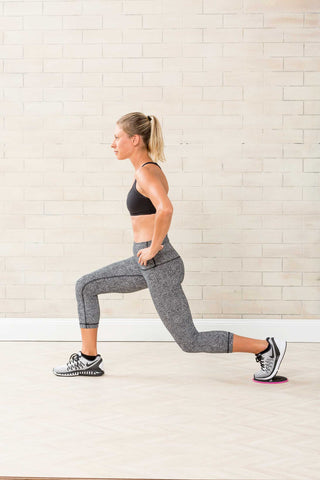 exercise sliders reverse lunge