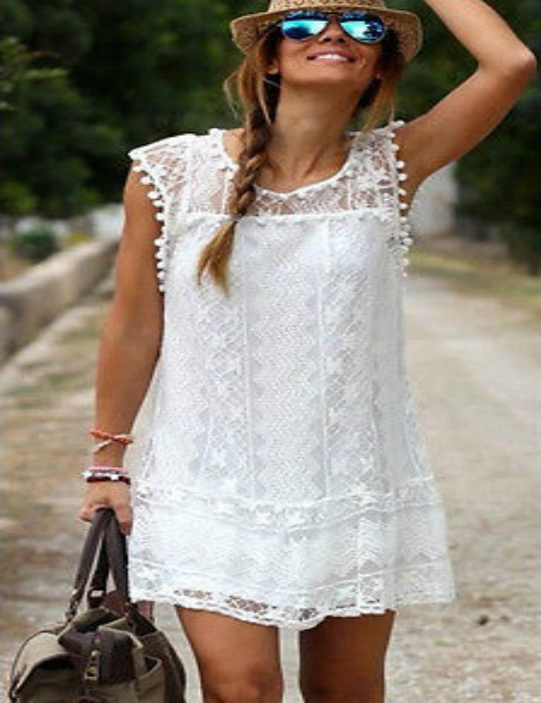 Boho Mini Casual Dress
