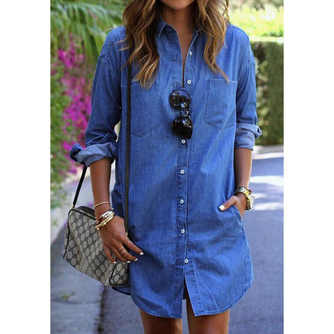 Ashley - Casual Denim Dress