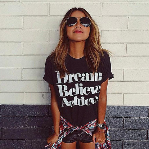 Dream Believe Achieve Short Sleeve Shirt