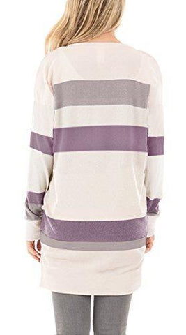 Striped Tunic - Purple