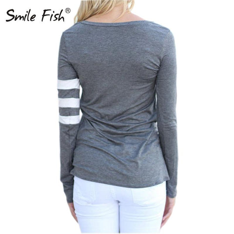 O-Neck Long Sleeve Casual Simple T Shirts