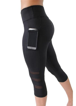 High Waist Capri leggings with Pocket