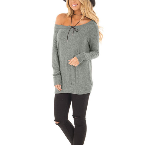 Wind Down Long Sleeve Top Grey