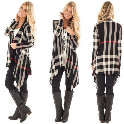 Abigail Stylish Plaid Cardigan