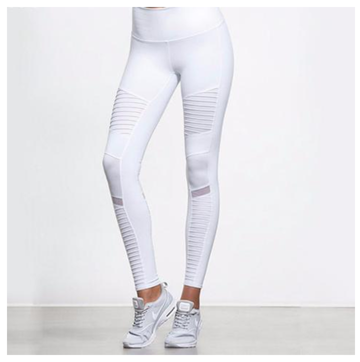 Ashley Yoga Leggings with Mesh Panels