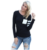 Image of O-Neck Long Sleeve Casual Simple T Shirts