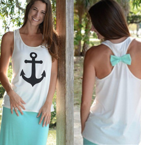 Anchor Bow Back Tank