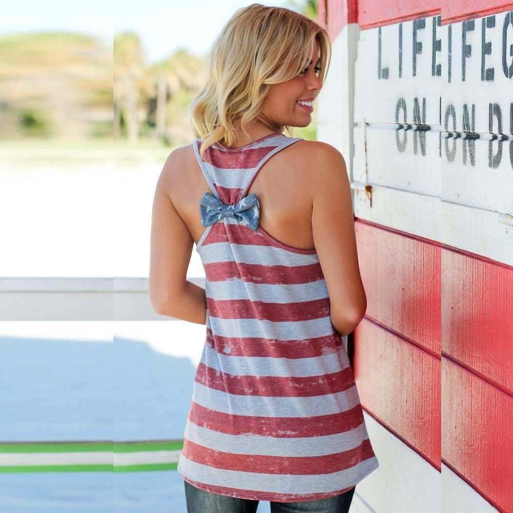 American Flag Striped Tank Top
