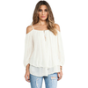 Image of Cream - Off Shoulder Blouse