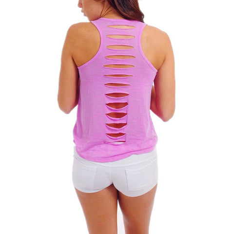 Hollow Out Fitness Tank