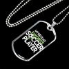 Image of My Kid is My Favorite Soccer Player- Luxury Dog Tag