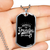 Image of Promoted to Grandpa- Luxury Dog Tag