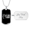 Image of My Old Man is Bad to the Bone- Luxury Dog Tag