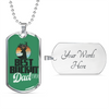 Image of Best Buckin' Dad Ever- Green- Luxury Dog Tag