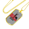 Image of Best Buckin' Dad- Luxury Dog Tag